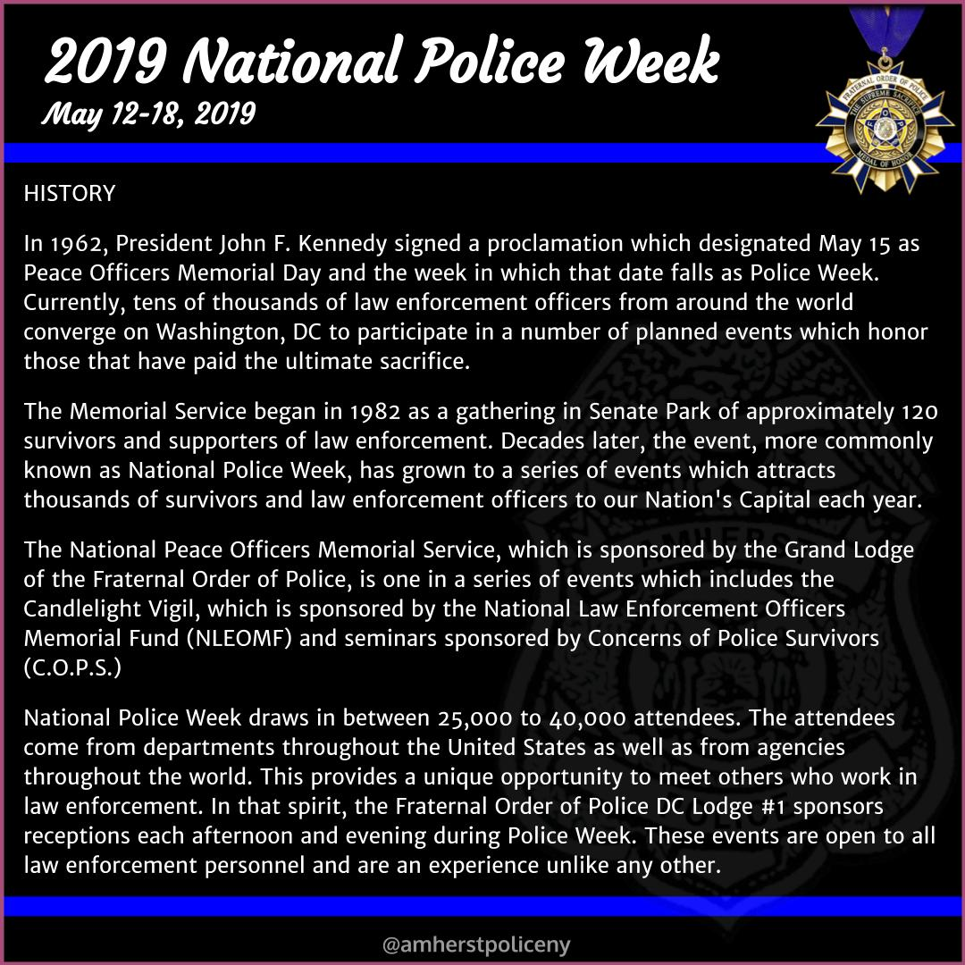 Amherst Police On Twitter 2019 Police Week May 12 18