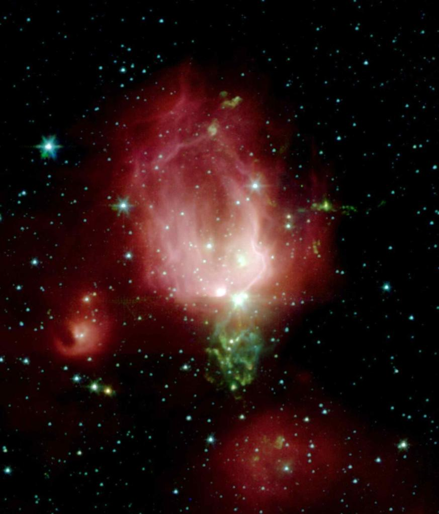 Make mom feel out-of-this-world this #MothersDay. Send her this interstellar rose, courtesy of @NASASpitzer. This rosebud-shaped cloud of gas & dust, known as a nebula, is filled with bright young stars. Learn more: go.nasa.gov/2PYMUCJ