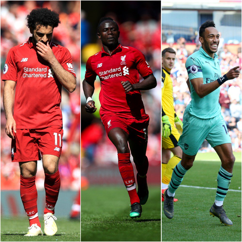 🌍🇪🇬🇸🇳🇬🇦🌍  It may have been played in Europe. It may have been won in Manchester. It may have been colored blue. But it's Africa who will grab the headlines.  Salah, Mane and Aubameyang end the Premier League season on 22 goals each 👏