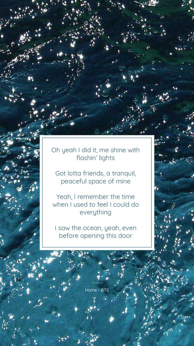 bts lyrics ⁷ on i saw the ocean home bts lyrics