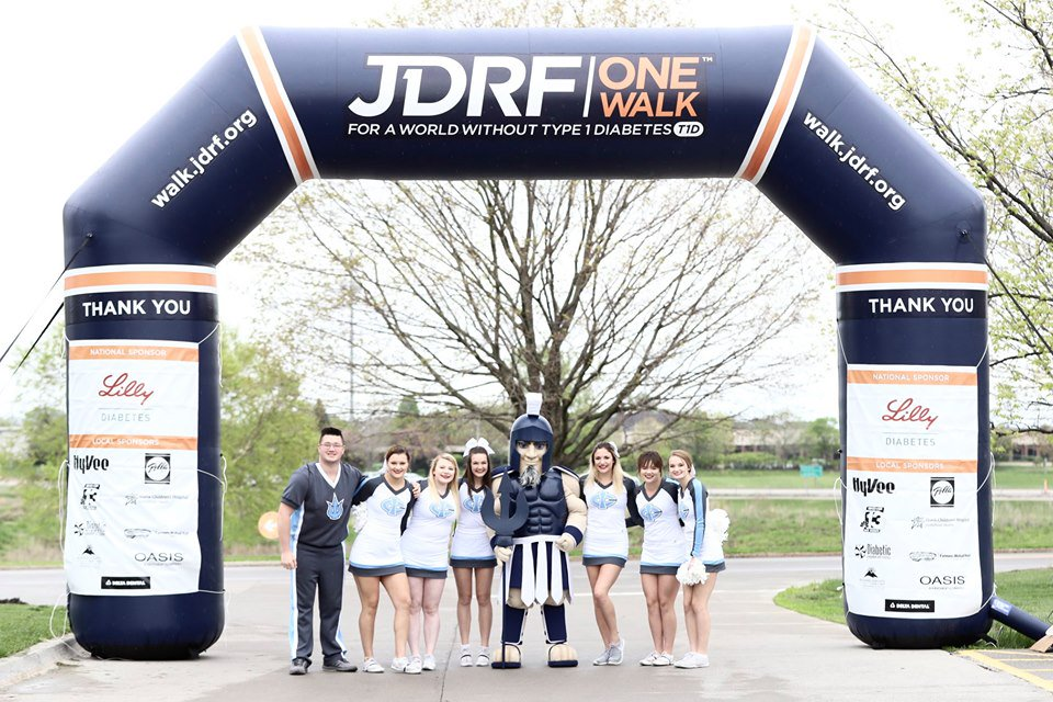So many inspiring stories at the @JDRFGreaterIowa Walk in Ankeny on Saturday! What a special opportunity for us represent #TritonNation and cheer on these amazing kids and their families! Images at http://www.facebook.com/iowacentral #TheTritonWay #TritonsGiveBack #TriTheTRiton #JDRF