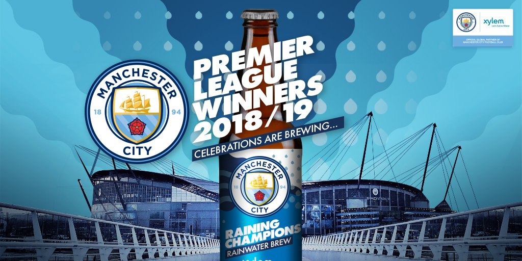 Félicitations @ManCity ! Notre bassin d'eau de pluie éphémère créé pour les champions en titre de la @PremierLeague nous permet d'éduquer les fans sur...