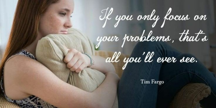 If you only focus on your problems, that's all you ever see. #TimFargo <br>http://pic.twitter.com/5uqe27c247