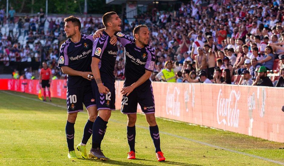 ¡¡¡¡¡¡FINAL!!!!!! El Real Valladolid vence 1-2 en Vallecas, los resultados acompañan en otros campos, y el Pucela estará al año en ¡PRIMERA!