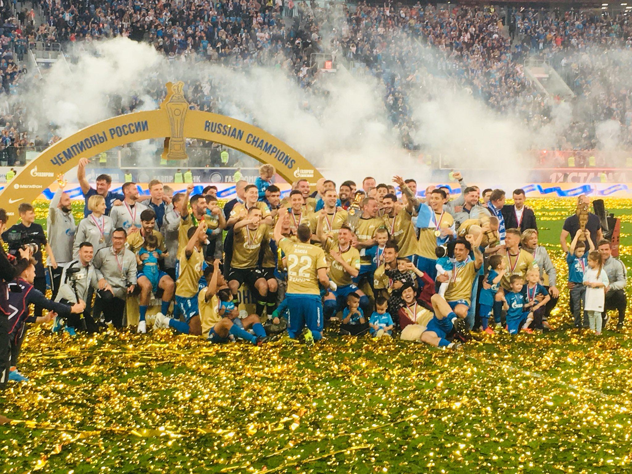 «Зениту» вручили чемпионский кубок Российской Премьер-Лиги