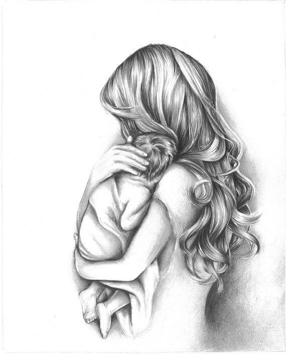 Сюрприз музыкальная, женщина с ребенком картинки карандашом