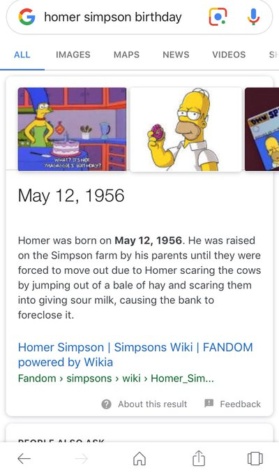 Happy birthday Homer Simpson