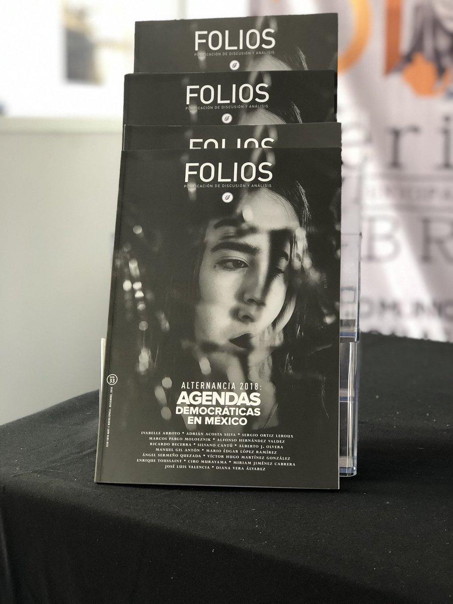 En unos minutos, @PerezVega_moy y yo estaremos presentado la edición no. 33 de la @RevistaFolios, en el marco de la Feria Municipal del Libro de Guadalajara. https://t.co/3fb5ZExlLn