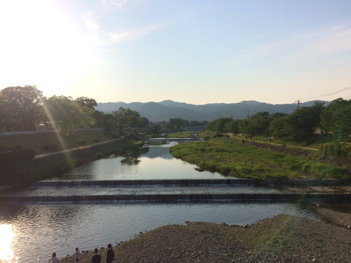 昨日の賀茂川。 #Kyoto #kyokamo #鴨川 #京都 #上賀茂橋