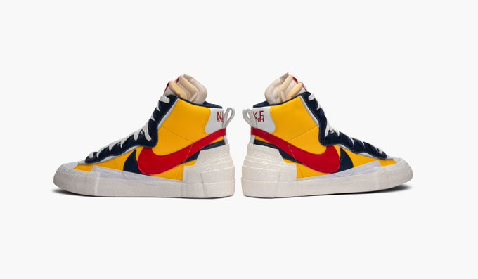 official photos 9f73a 94770 ... the Nike x sacai Blazer fuses the Nike Blazer and Dunk into one.  Available on the app and http   GOAT.com   http   goat.app.link UxGb1NH39V  ...