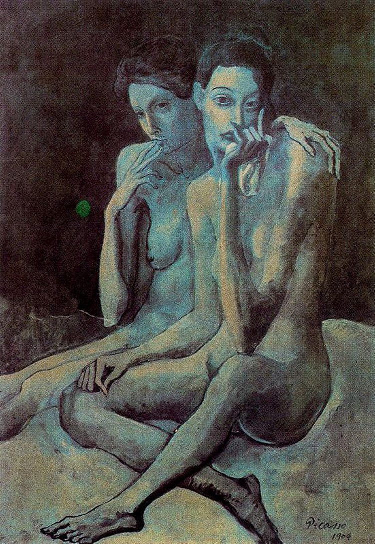 Blue Nude, Pablo Picasso Poster By Filippobassano