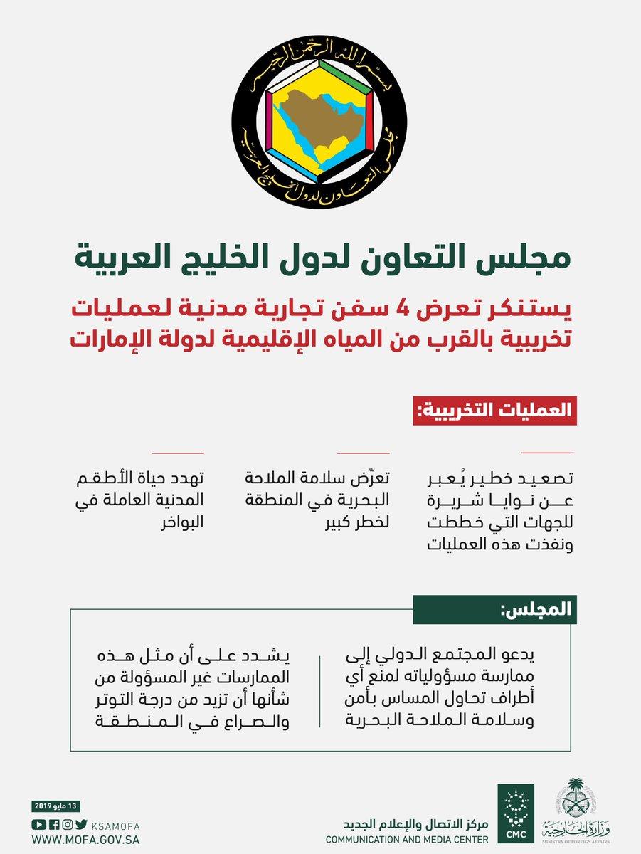 «التعاون الخليجي» يستنكر تخريب سفن D6ZovKGWsAEl8DT.jpg