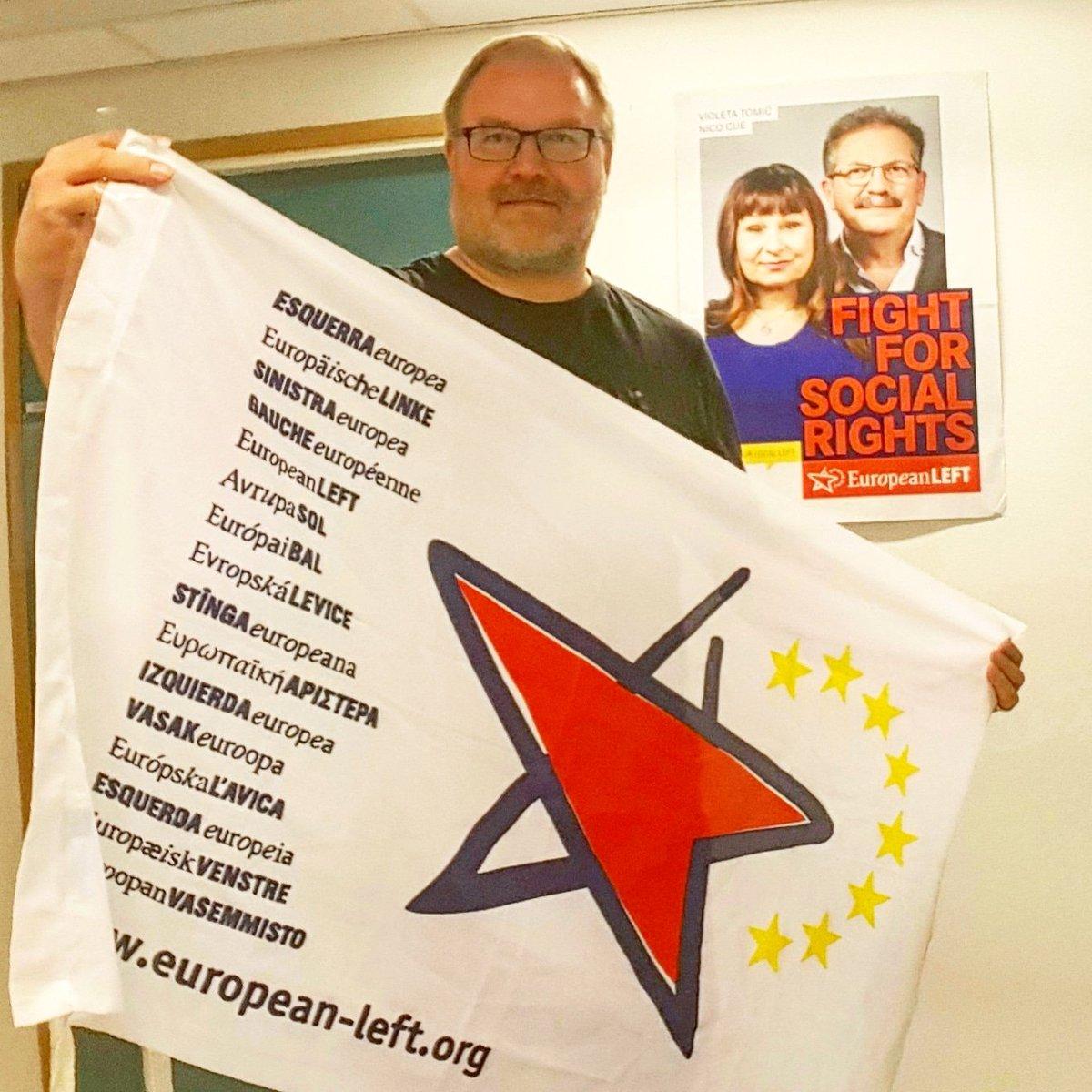 SKP:n #JPVäisänen vetoaa näkyvän vaalikirityksen aikaansaamiseksi. Väisäsen mielestä Euroopan vasemmiston kärkiehdokkaat #VioletaTomic ja #NicoCue inspiroivat mukaan politiikkaan ja kansalaisyhteiskunnan vaikuttamistyöhön. #EuropeanLeft #SKP #TyöväenEurooppa #EUvaalit2019