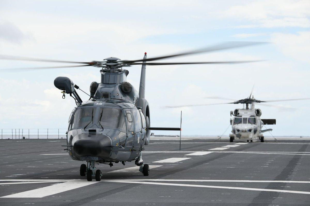 #海上自衛隊 の護衛艦「いずも」及び「むらさめ」(平成31年度インド太平洋方面派遣訓練)は、5月19日~22日までの間、インド洋において日仏豪米共同訓練(ラ・ペルーズ)を実施しています。#防衛省・自衛隊 は本訓練を通じて、各国との相互理解の促進及び信頼関係の強化に取り組んでいきます。