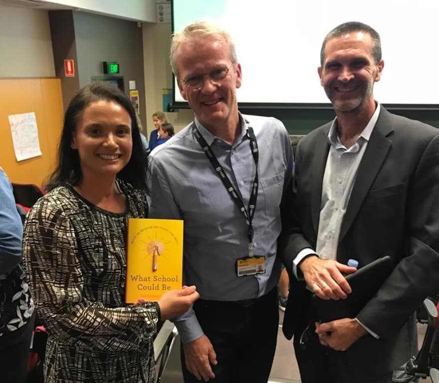Great afternoon looking at innovative approaches to how school COULD be! Definitely something for our parents & students to think about. Thanks @pasi_sahlberg & @GonskiInstitute!  You are always welcome to visit @LiverpoolBoysHS 😊