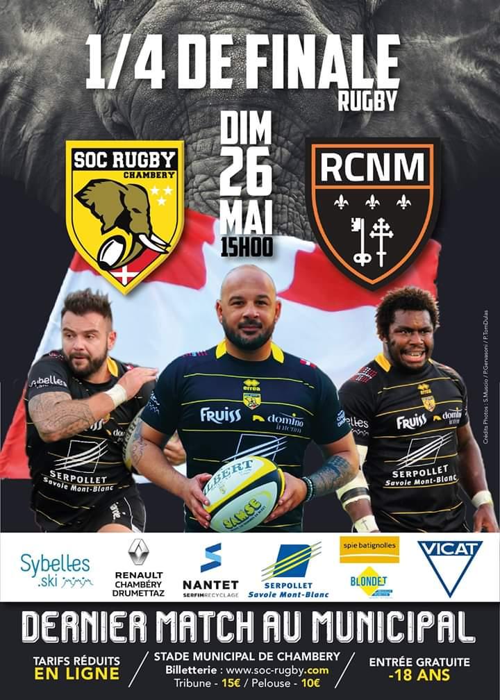 #SOCRCNM | 🆚️  Ce week-end, nos joueurs se déplacent à Chambéry pour le quart de...