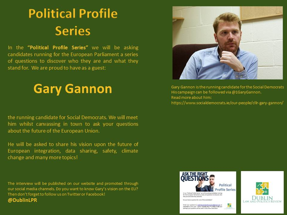 Looking forward to our next interview later today with @1GaryGannon from @SocDems! Join us later today on Grafton street or stay tuned for the result! #EUelections2019 #TellEurope #ThisTimeImVoting #politicalprofileseries