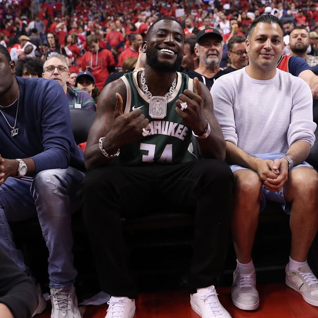 Big Guwop in the house for Game 3️⃣ 🌟‼️#taapathletics #guccimane #nba #nbaplayoffs #icy #basketball #sports #canada #toronto #milwaukee #guwop #gucci #FearTheDeer #WeTheNorth
