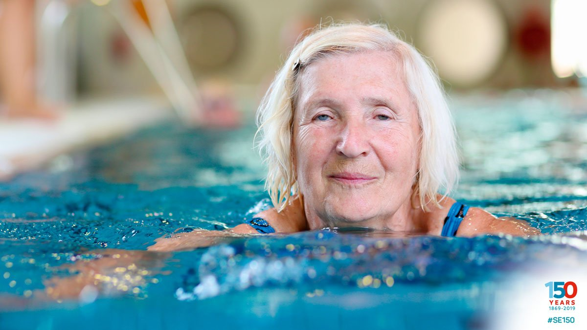 #DailySwimmingFact: There are 850,000 people living with dementia in the UK. Our research shows that low impact exercise can improve the quality of life for people in all stages of dementia. Learn about Dementia Friendly Swimming http://bit.ly/2VyaiYS #SE150 #DAW2019