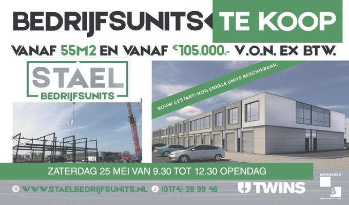 ADV; Open dag Stael Bedrijfsunits in Vlaardingen op 25 mei https://t.co/3SEK1DeqAk https://t.co/z0VF4YUVnV