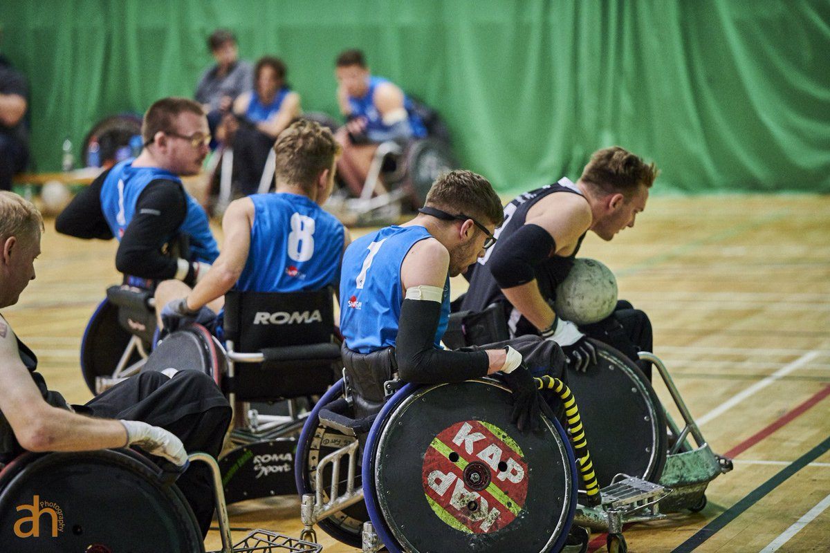 Did you miss the opening weekend of the Wheelchair Rugby 5⃣s Summer League? 🦅 @OspreysWR A Team take the Premiership top spot and ⚔️ @Norfolk_Knights lead the Championship! 📰 Full results at bit.ly/30uEyrp 🗓️ Next tournament 13/14 July @SMStadium 📸 Anthony Hayton