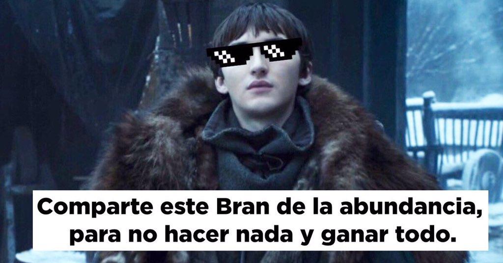 Da RT a este Bran para que te vaya bien en todo.  #GameOfThrones