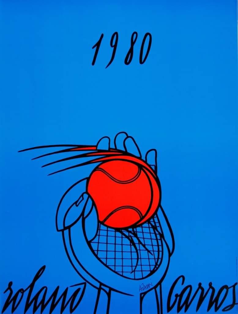CARTELERÍA: ROLAND GARROS. (1980-2019: https://m.facebook.com/lacarteleriaduermeoevoluciona/albums/1105670626294801/…) Tanto por aprender... #RolandGarros #Paris #Arte