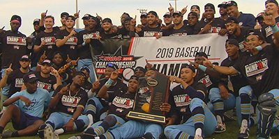 #Southern baseball is one of the best worst-to-first stories you'll ever hear. After Kerrick Jackson and his #Jags mustered just 9 wins his first season, the Jags dominated Sunday's #SWAC Tournament championship game against #AlabamaSt. @SouthernUsports   https:// bit.ly/30sx8VL  &nbsp;  <br>http://pic.twitter.com/JsZ6i8575w