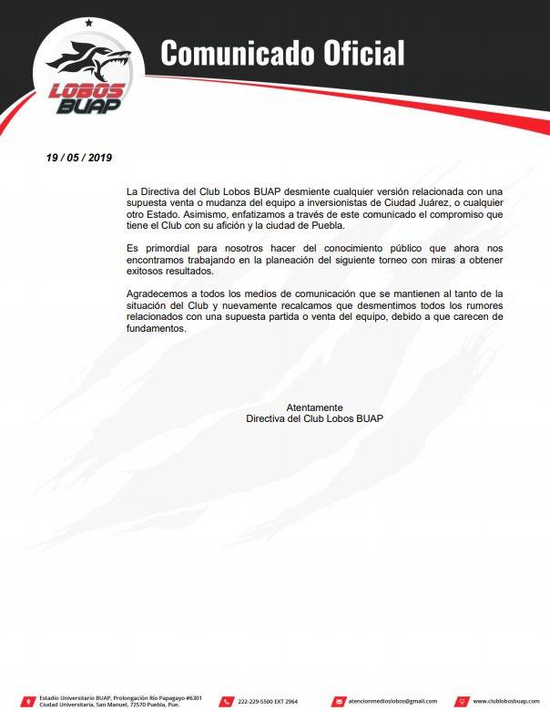 El equipo @LobosBuapMX desmiente la posible venta del cuadro de la Benemérita Universidad Autónoma de Puebla!