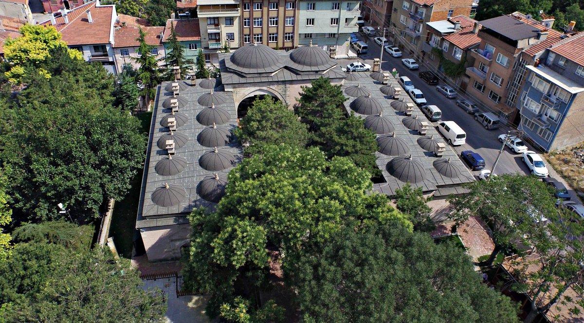 Osmanlı medreselerinin tipik bir örneği olan Tarihi Taş Medrese'de şeh…