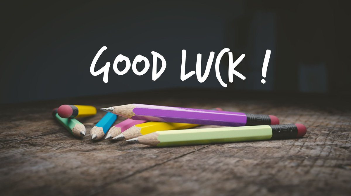 Best of luck to everyone taking #exams today. You got this! #gcseenglishlit #alevelpsychology