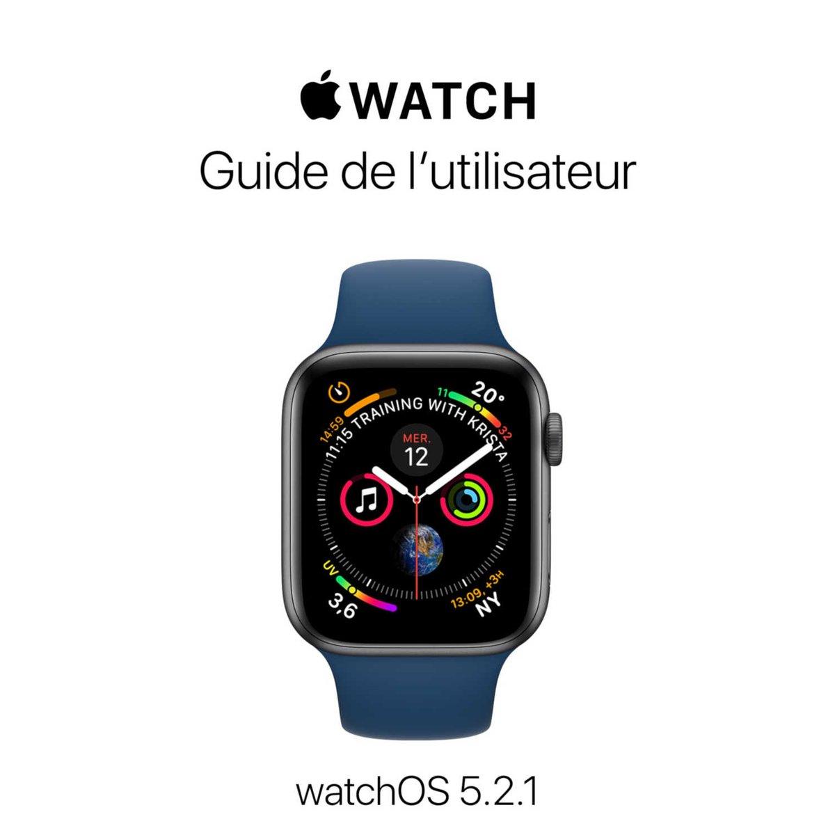 Le guide de l'utilisateur de l'Apple Watch pour watchOS 5