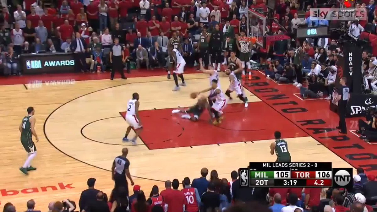 ✈️🏀 KAWHI TAKES OFF 🏀✈️ @kawhileonard scored 36 points as the @Raptors won a double OT thriller to pull a game back against the @Bucks in the Eastern Conference Finals #NBA #NBAPlayoffs #WeTheNorth #FearTheDeer 📲 REPORT AND RECAP - skysports.tv/tQsUUB