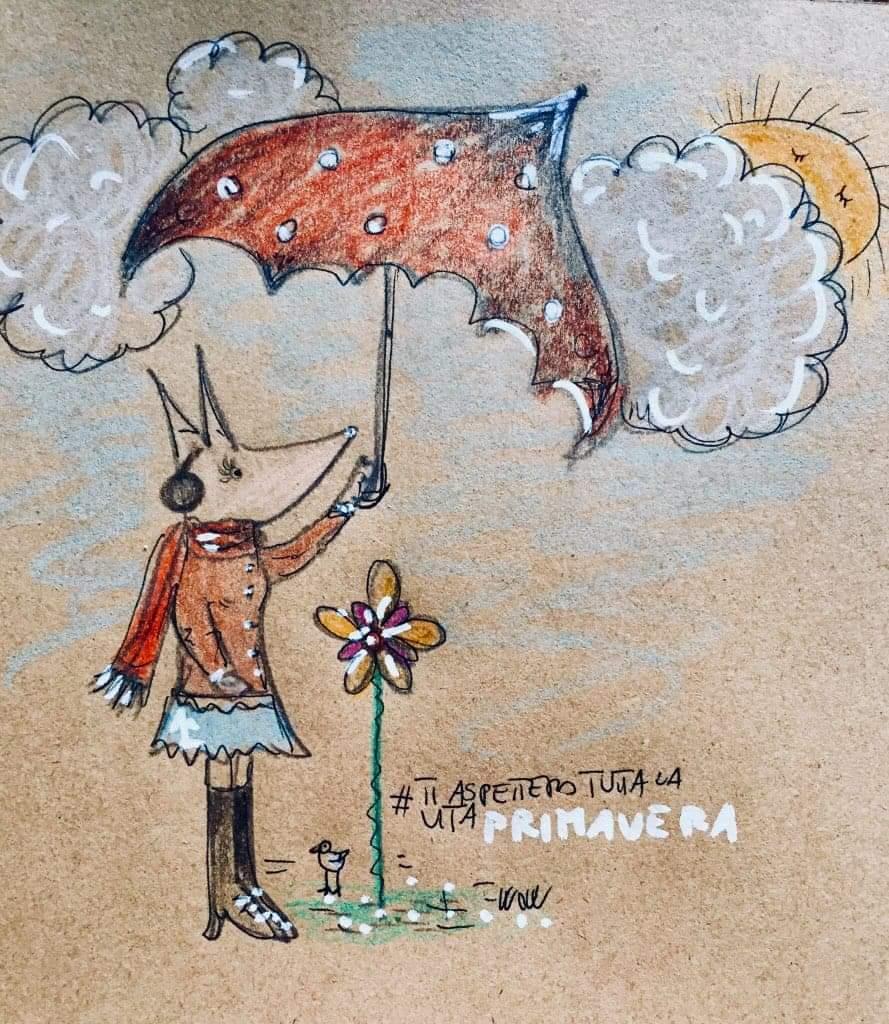 #BuonLunedi Anche se fuori piove, nevica e sembra gennaio nel cuore abbiamo una #Primavera lunga anni ❤️🌼🌾 #ILupiDiMartina per #ILupiDiErmal