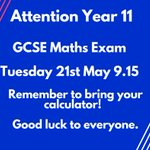 Image for the Tweet beginning: Attention Year 11 - GCSE