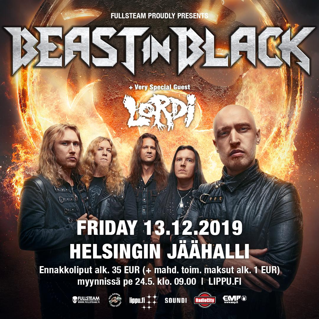 PEOPLE OF #FINLAND!  We are delighted to inform you that on December 13th, we'll be joining forces with the magnificent #BeastInBlack at their show taking place in Helsinki #Jäähalli / Ice Hall  Tickets are released this Friday, May 24th 9.00 over at: https://t.co/AZCne8tKrA https://t.co/52EAWkR0w9