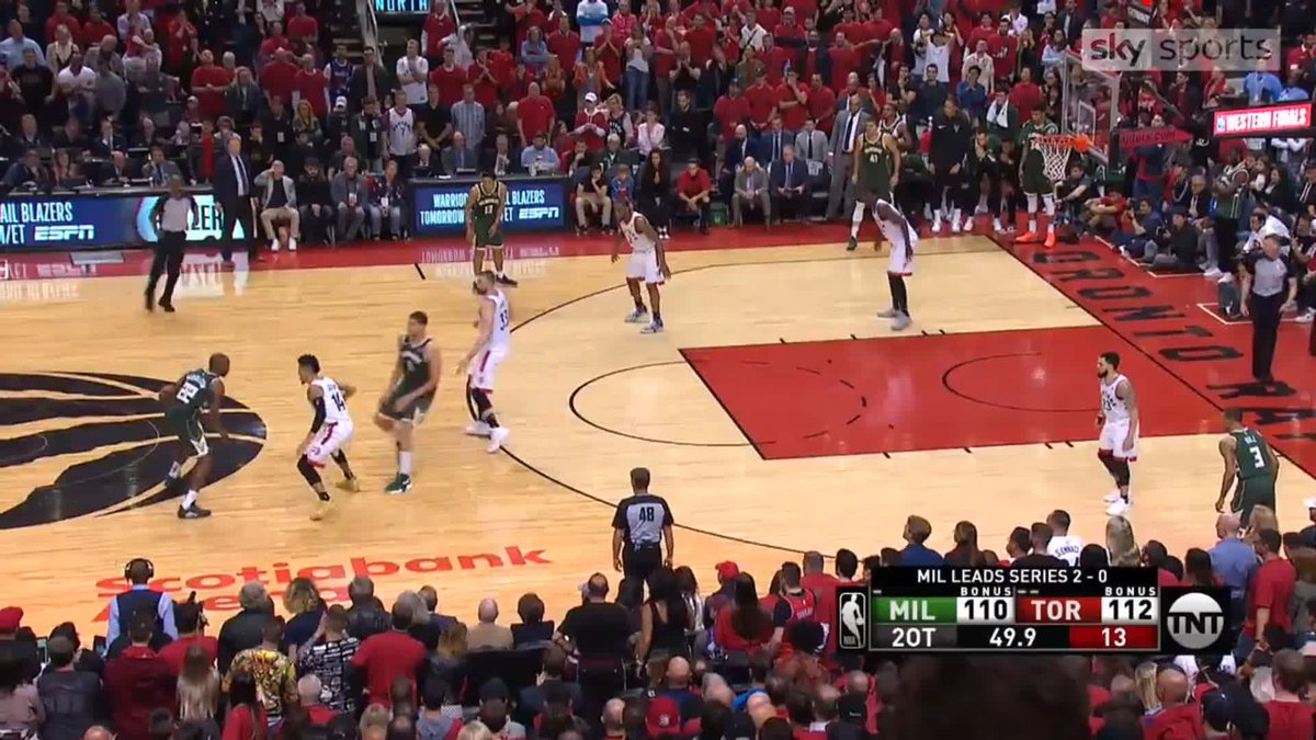 ⛔️ SIAKAM DENIES LOPEZ ⛔️ Pascal Siakam made a huge block on Brook Lopez to help seal victory for the @Raptors over the @Bucks in Game 3 of the Eastern Conference Finals #NBA #NBAPlayoffs #WeTheNorth #FearTheDeer 📲 WATCH 👉 skysports.tv/V92Zct
