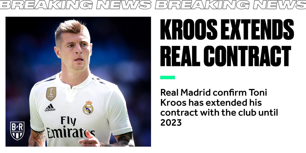 OFFICIAL: Toni Kroos has extended his contract with Real Madrid until 2023 ⚪