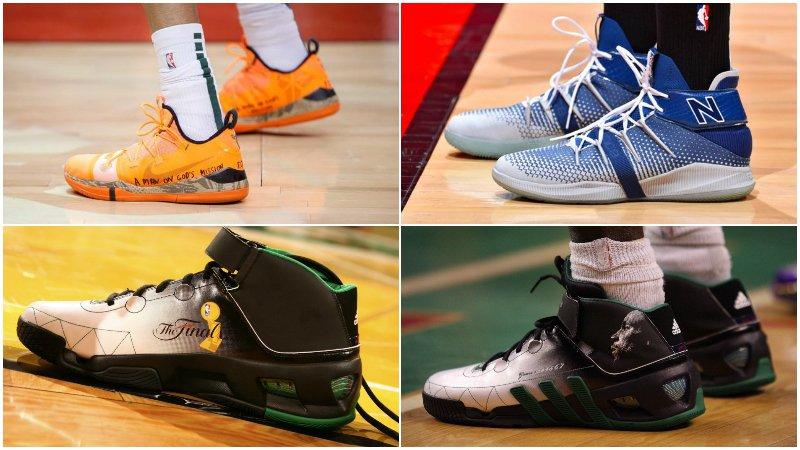 球鞋匯 | NBA球員今日球鞋上腳:可愛穿藍白色簽名鞋,字母哥繼續曼巴精神!