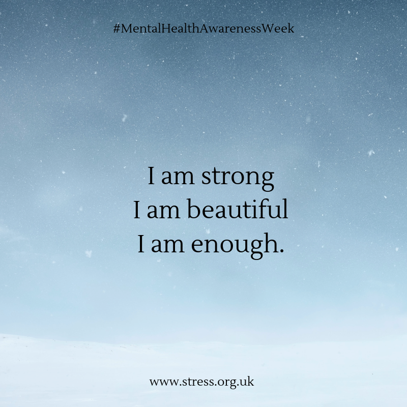 Start the week as you mean to go. Believe that you are enough and that you are strong and see if the power of positive thinking can make a difference #MentalhealthAwarenessWeek #BeBodyKind #Mondaymotivation
