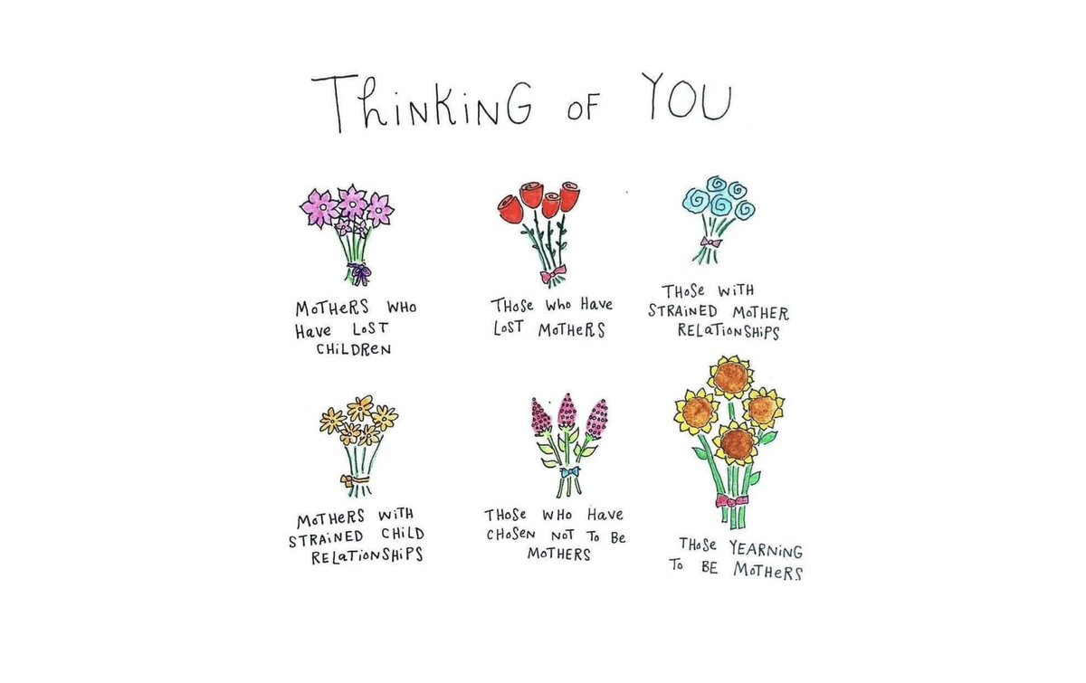 #HappyMothersDay   Today we also honor all the mothers & children who are grieving broken relationships or losses, those who have chosen to not be mothers & those yearning to be mothers. 💕 #YouAreLoved.  #moms #mothersday #MothersDayBlues #wellness #mentalhealth https://t.co/3L3PWNFDZN