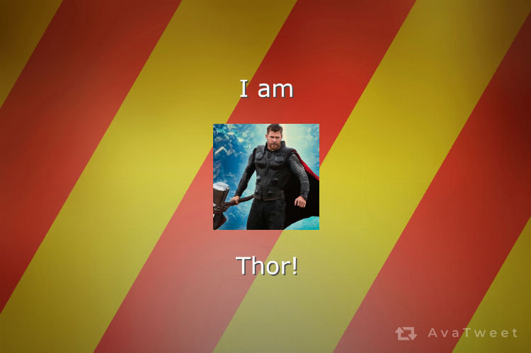 I am Thor! Find which Marvel character you are at https://avatweet.com/games/marvel  #AvaTweet #Marvel #AvengersEndgame #Thor