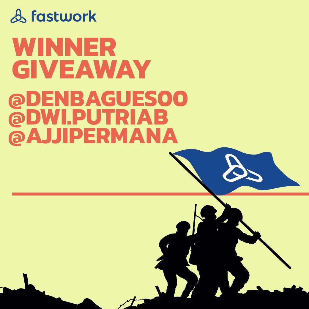 Inilah dia pemenang dari Fastwork May 7 Giveaway (Merchandise Fastwork): @denbagues00 @dwi.putriab @AjjiPermana • #FastworkIndonesia #cepetgaribet #Fastwork https://t.co/PtiYjoUhy1