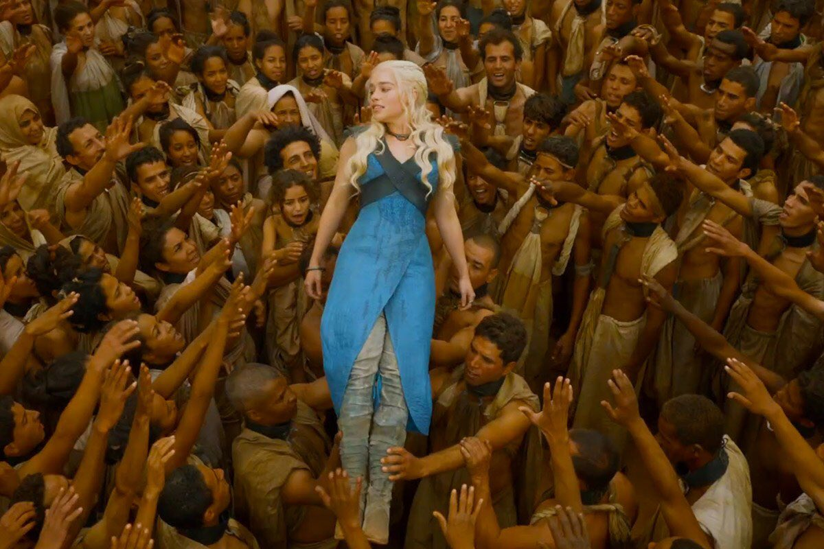 Daenerys Targaryen is the quintessential leftist — preaches social justice non-stop, then gets a little taste of power and goes completely mad.