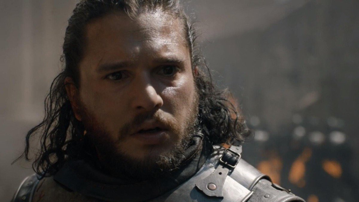 Jon watching a CGI dragon destroy an entire city in detail while being told it wasn't in the budget for him to pet Ghost #GameofThrones