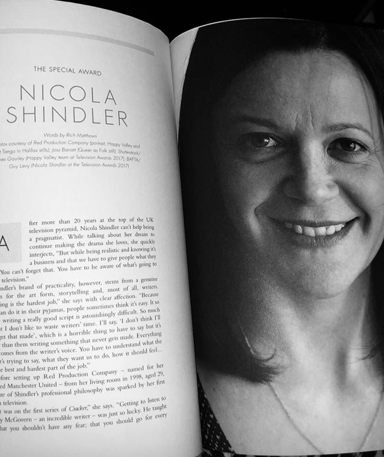 Huge congratulations to @NicolaShindler for being awarded the Special Award for Outstanding Contribution to the Television Industry by @BAFTA last night! Incredibly well deserved, having created so much truly amazing and groundbreaking television over the years! #BAFTATV <br>http://pic.twitter.com/k1lP9ktVwQ