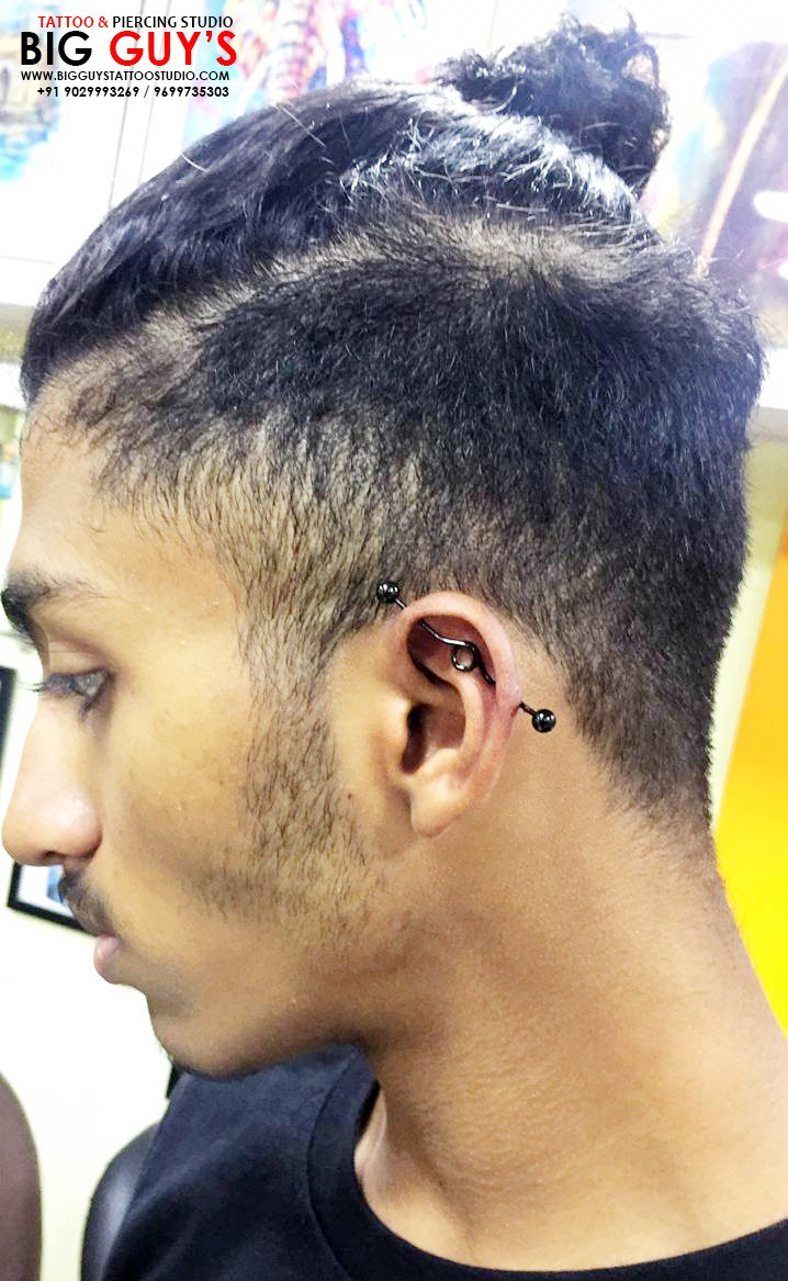 Big Guys On Twitter Industrial Piercing Done Near Ear Of Boy At Big Guys Tattoo Piercing One Of The Old Tattoo Piercings Studio School Equipments In Mumbai Cst
