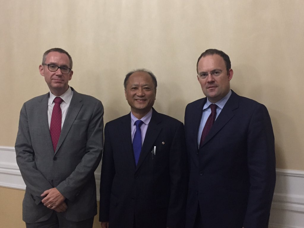Hasil gambar untuk British foreign ministry official with James Squire visits Pyongyang