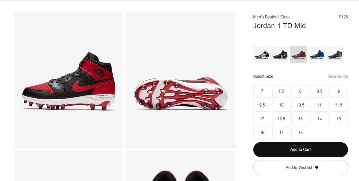 464f0bd328bd8e MoreSneakers.com Twitter Tweet  AD   US RELEASE Men s Football Cleat Jordan  1 TD