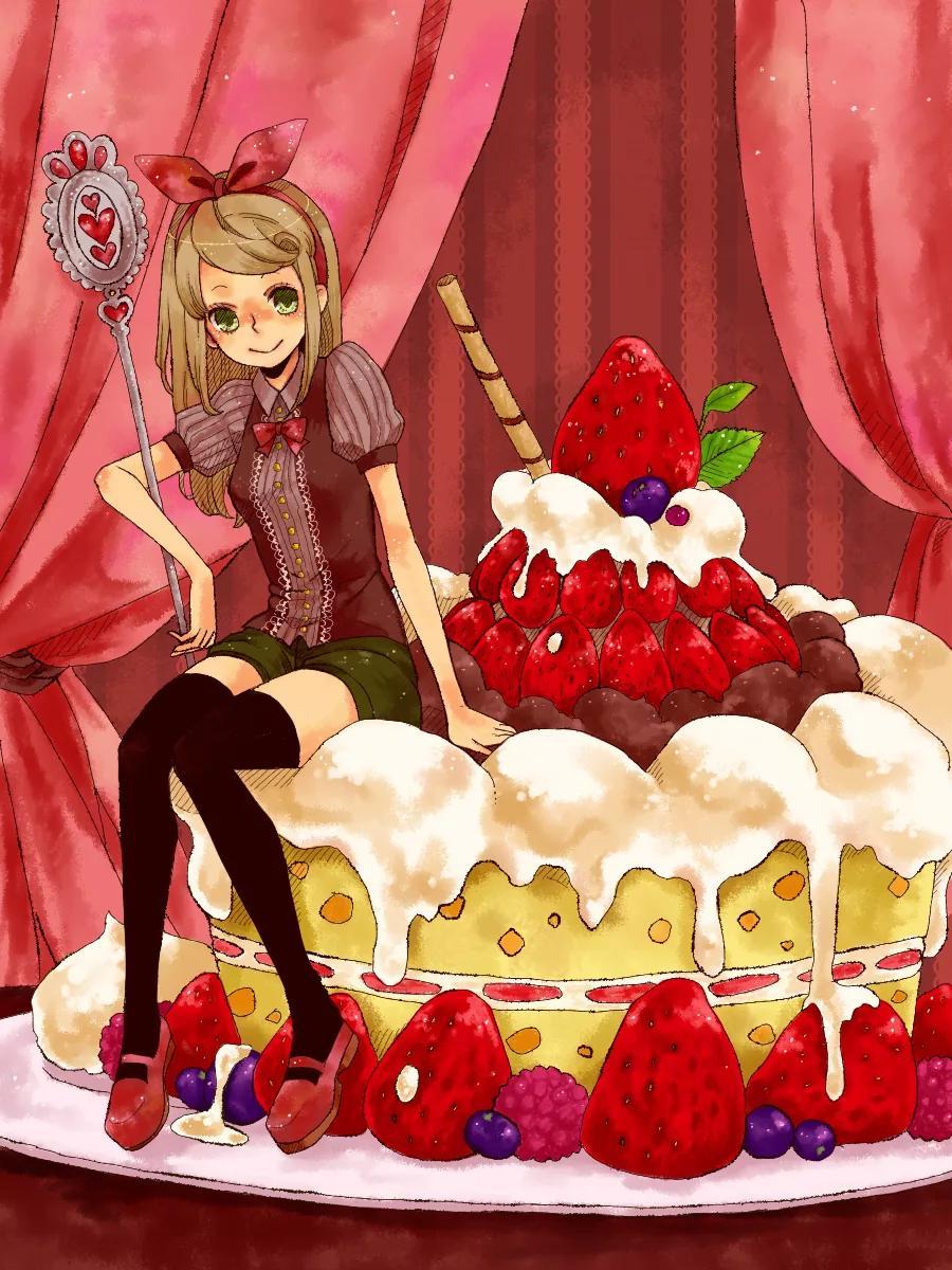 Девушка с тортом открытки, продаж открытки